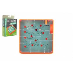 Obrázek Bludiště/hlavolam Po trase plast 12x12cm balanční hra v krabičce 13x18x4cm