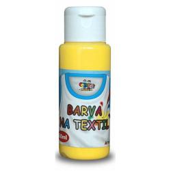 Obrázek Barva na textil 60ml- žlutá
