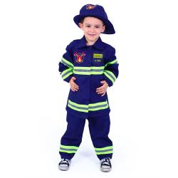 Obrázek Dětský kostým hasič s českýn potiskem (M)