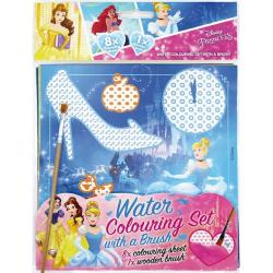 Obrázek Omalovánka vodová se štětcem Disney Princezny