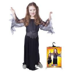 Obrázek karnevalový kostým čarodějnice/halloween černá, vel. S