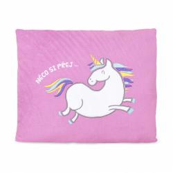 Obrázek Plyšový polštář - Jednorožec