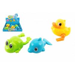 Obrázek Zvířátko natahovací do vany na klíček plast 10-12cm 3 druhy 6ks v boxu