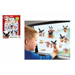 Obrázek Okenní dekorace Bing Bunny 50ks samolepek na kartě 16x21cm