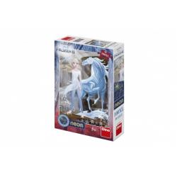 Obrázek Puzzle XL Ledové království II/Frozen II svítící ve tmě 33x47cm 100 dílků v krabici 20x29,5x6cm