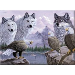 Obrázek Malování podle čísel -Vlci a orli