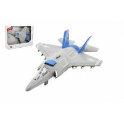 Obrázek Letadlo/stíhačka plast 31cm na baterie se světlem se zvukem v krabici 32x22,5x9cm