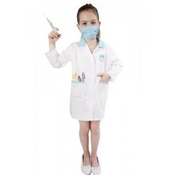 Obrázek karnevalový kostým doktorka, dětská, vel. M