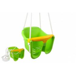 Obrázek Houpačka Baby zelená plast 33x30x28cm nosnost 25kg v síťce 12m+