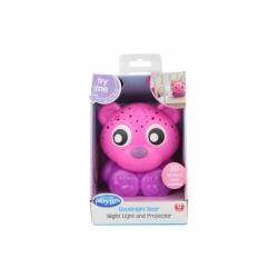 Obrázek Playgro - Usínací lampička medvídek s projektorem-růžový