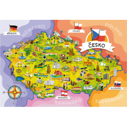 Obrázek Malovaná mapa České republiky
