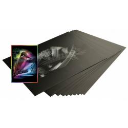 Obrázek Škrabací folie duhová 22,9 x 15,2 cm 10 ks