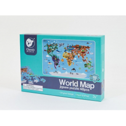 Obrázek Puzzle Mapa Světa 38x57cm 48 dílků v krabici 30x21x4cm