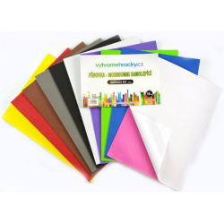 Obrázek Pěnovka samolepicí- 10 ks, mix barev, A4 - cca 2 mm