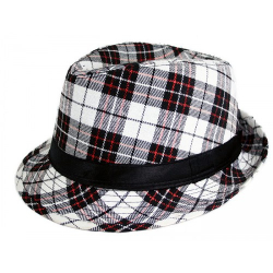Obrázek klobouk károvaný, dospělý