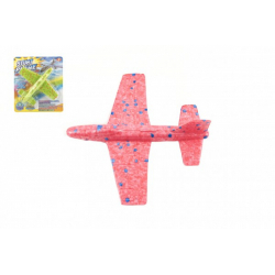 Obrázek Letadlo házecí polystyren 17cm 2 barvy na kartě