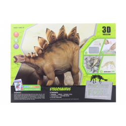 Obrázek Tesání Stegosaurus s omalovánky