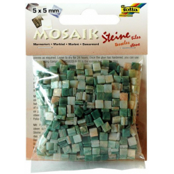 Obrázek Mozaika živicová 5x5mm- zelený mramor