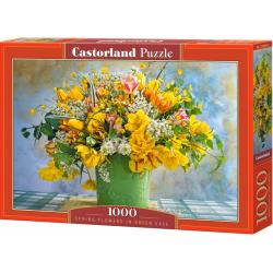 Obrázek Puzzle Castorland 1000 dílků - Žluté květiny v zeleném květináči