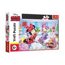 Obrázek Puzzle Disney Minnie/Den s nejlepšími přáteli 160 dílků 41x27,5cm v krabici 29x19x4cm