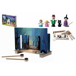 Obrázek Magnetické divadlo Perníková chaloupka dřevo v krabici 33x23x3,5cm