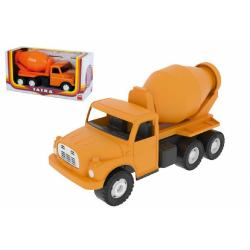 Obrázek Auto Tatra 148 plast 30cm domíchávač oranžová - malá