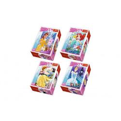 Obrázek Minipuzzle Princess/Disney 54dílků - 4 druhy