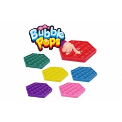 Obrázek Bubble pops silikon antistresová společenská hra 11x11cm - červená