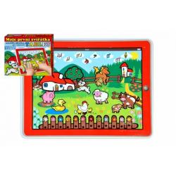 Obrázek Tablet farma pro nejmenší Moje první zvířátka 24x19x1,5cm na bat. se světlem a zvukem v krabičce MPZ
