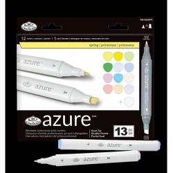 Obrázek Grafické fixy - Royal Jarní barvy - 12 ks grafických fixů + 1 ks blender