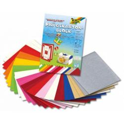 Obrázek Vytlačovaný papír - celoroční motivy, 30 listů po 15 barvách, 220g, 24x34 cm