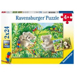 Obrázek Roztomilé koaly a pandy 2x24 dílků