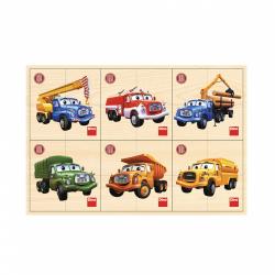 Obrázek puzzle dřevěné Tatra 6x4 dílků