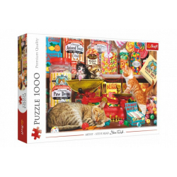 Obrázek Puzzle Kočičí sladkosti 1000 dílků 68,3x48cm v krabici 40x27x6cm