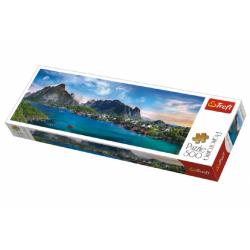 Obrázek Puzzle Lofoten Archipelago, Norsko panorama 500 dílků 66x23,7cm