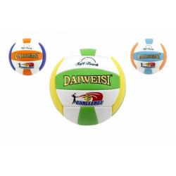 Obrázek Míč volejbalový šitý kůže 20cm asst 3 barvy v sáčku