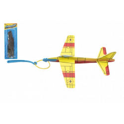 Obrázek Letadlo vystřelovací pěna 18cm 4 barvy na kartě