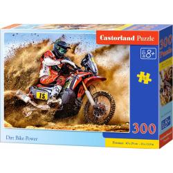 Obrázek Puzzle 300 dílků - Motokrosový závodník na poušti