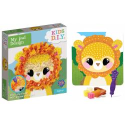 Obrázek obrázek kreativní lev s textilem