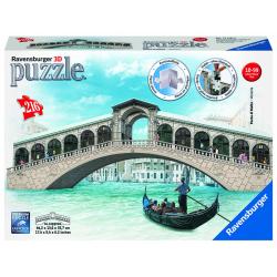 Obrázek Puzzle 3D Rialto most Benátky 216 dielikov 3D