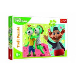Obrázek Puzzle Treflík a Strýček/Rodina Trefliků 100 dílků 41x27,5cm v krabici 29x19x4cm