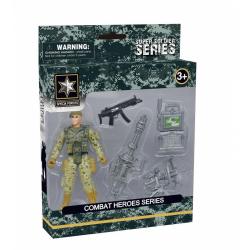 Obrázek Combat Hero - voják s příslušenstvím - 3 druhy