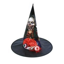 Obrázek klobouk halloween mozek s okem dospělý