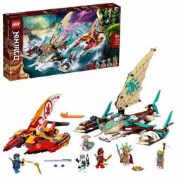 Obrázek LEGO<sup><small>®</small></sup> Ninjago 71748 - Souboj katamaránů na moři