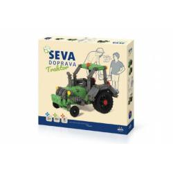 Obrázek Stavebnice Seva Doprava Traktor plast 384 dílků v krabici 35x33x5cm 5+