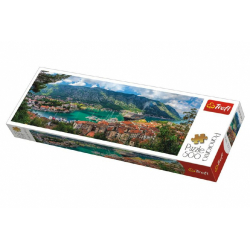 Obrázek Puzzle Kotor, Montenegro panoráma 500 dielikov 66x23,7cm