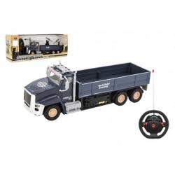 Obrázek Auto RC vojenské nákladní plast 26cm na baterie se světlem v krabici 40x15x11cm