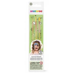 Obrázek Štětce na obličej - 3ks - zelené