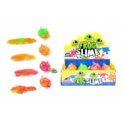 Obrázek Sliz - hmota žába 8cm - 4 barvy v plastové dóze