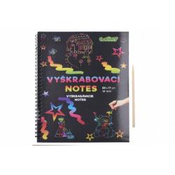 Obrázek Škrabací/Vyškrabovací notes duhový 10 listů v sáčku 28x21cm